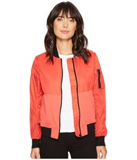 Converse Knit Woven Ma 1 Bomber Jacket Ultra Red Women's Coat