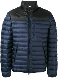 Parajumpers Slit Pockets Down Jacket Men Feather Down Polyamide Polyester Xl Blue