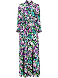 Emilio Pucci Shortsleeved Long Shirt Dress Pink And Purple