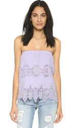 Nightcap Clothing Embroidered Tube Top Lilac
