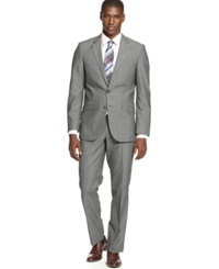Unlisted By Kenneth Cole Mid Grey Pindot Slim Fit Suit