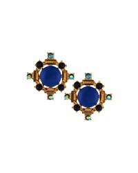 Lydell Nyc Mixed Geometric Crystal Statement Stud Earrings Multi