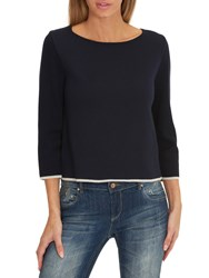 Betty Barclay Double Faced Knit Jumper Dark Sapphire