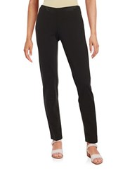 Eileen Fisher Plus Slim Fit Ponte Stretch Pants Black