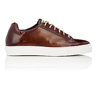 Harris Men's Burnished Low Top Sneakers Red
