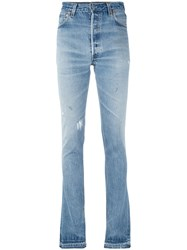 Re Done Bootcut Jeans Women Cotton 24 Blue