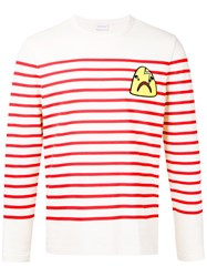 Moncler Striped Top With Shark Patch White