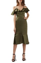 Topshop Women's Satin Ruffle Dress