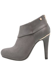 Xti High Heeled Ankle Boots Grey