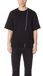 3.1 Phillip Lim Short Sleeve Reconstructed Sweatshirt Black