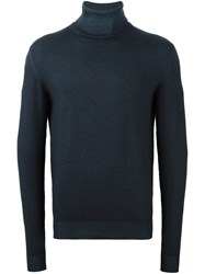 Etro Turtle Neck Jumper Blue