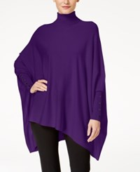 Alfani Petite Turtleneck Poncho Sweater Created For Macy's Purple Royale