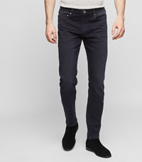Reiss Andrew Slim Fit Tapered Jeans In Washed Black