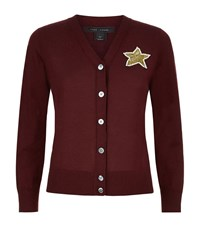 Marc Jacobs Sequin Star Cardigan Female Red