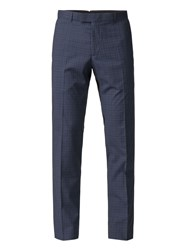 Limehaus Bowery Blue Check Trousers Blue