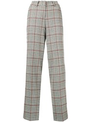 Cambio Houndstooth Tailored Trousers White