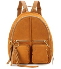 See By Chloe Suede Backpack Brown