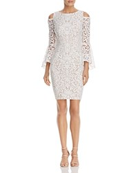 Aqua Cold Shoulder Bell Sleeve Lace Dress 100 Exclusive Ivory Blush