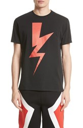 Neil Barrett Men's Abstract Bolt T Shirt