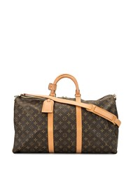 Louis Vuitton 2000S Pre Owned Keepall 50 Travel Bag Brown