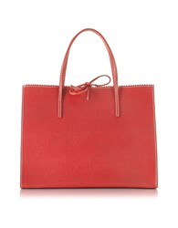 Buti Red Medium Wild Boar Leather Tote