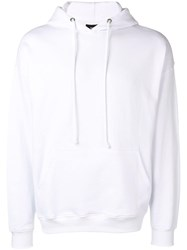 Les Artists Art Ists Logo Print Hoodie White