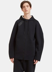 Y 3 Sport Z Oversized Zip Up Hooded Sweater Black