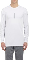 Westbrook Xo Barneys New York X Jordan Perforated Jersey Long Sleeve T White