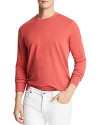 Bloomingdale's The Men's Store At Garment Dyed Crewneck Sweatshirt Red Swatch