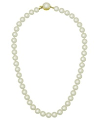Majorica 18K Gold Over Sterling Silver Necklace Organic Man Made Pearl