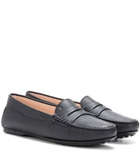 Tod's Gommini Leather Loafers Blue