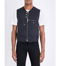 The Soloist Collarless Button Detailed Shell Gilet Black