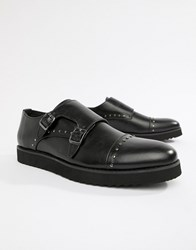 Truffle Collection Monk Stud Shoes Black