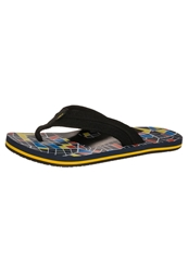 Dc Shoes Central Flip Flops Black Black Yellow