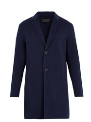 Iris Von Arnim Notch Lapel Double Faced Overcoat Navy