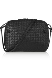 Bottega Veneta Messenger Small Intrecciato Leather Shoulder Bag Black