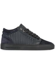 Android Homme Quilted Panel Lace Up Sneakers Blue