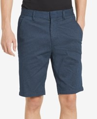 Calvin Klein Men's Micro Grid Printed Shorts Cadet Navy