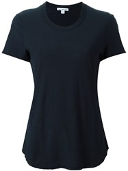 James Perse Round Neck Shortsleeved T Shirt Blue
