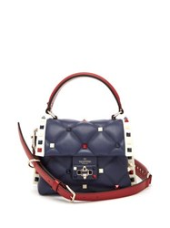 Valentino Candystud Quilted Leather Bag Navy Multi