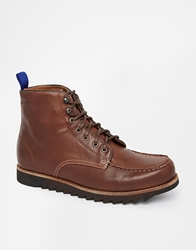 Bellfield Irvine Moccasin Boots Brown