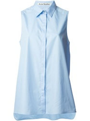 Acne Studios 'Ash' Sleeveless Shirt Blue