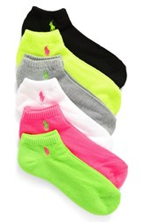 Ralph Lauren Women's 'Sport' Low Cut Socks Bright Assorted