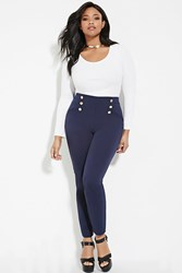 Forever 21 Plus Size Sailor Pants Navy