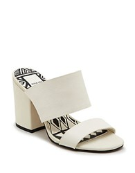 Dolce Vita Elize Leather Block Heel Sandals Off White