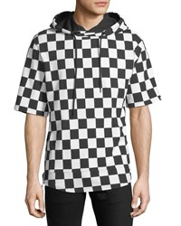 Prps Checkered Short Sleeve Hoodie White