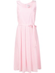 Harley Viera Newton Gingham Check Pleated Dress Pink Purple
