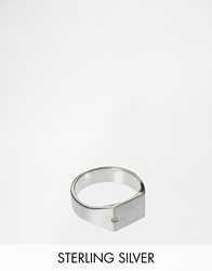 Seven London Sterling Silver Signet Ring Exclusive To Asos