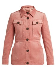 Alexachung Patch Pocket Corduroy Jacket Dark Pink