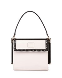 Miss Viv Carre Small Perforated Tote Bag White Black Roger Vivier